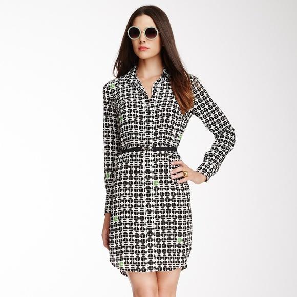 Trina Turk Dresses & Skirts - Trina Turk Silk Dress Button Front - Size 8